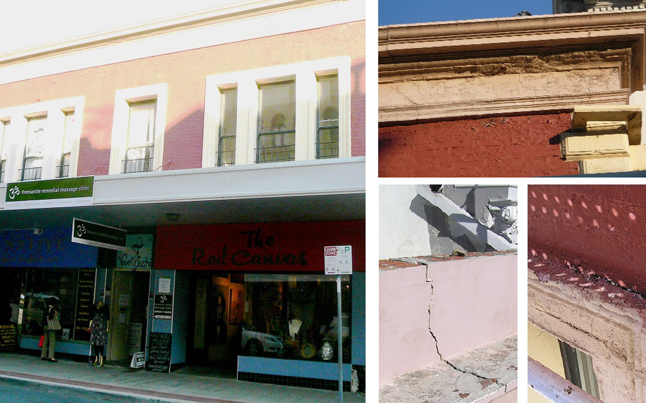 Structural Engineering for Building and Shopfront Repairs to Heritage Building, Fremantle, WA