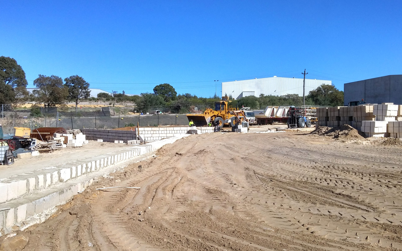 Earthworks and Limestone Retaining Wall Construction, Bibra Lake
