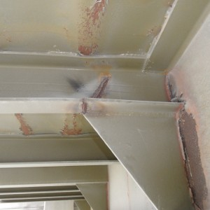 Corroded Steel Beams and Gussets