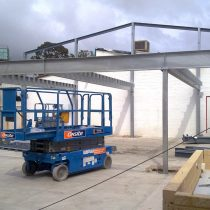 Gymnasium Mezzanine Steel Structure Addition and Roof Conversion Design