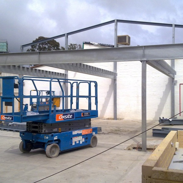 Mezzanine Steel Frame Installation