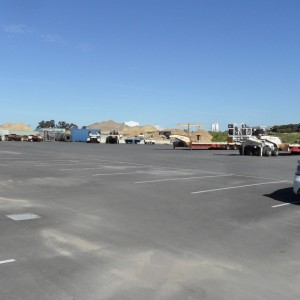 Completed works – Heavy Vehicle Parking with on-site Stormwater Retention