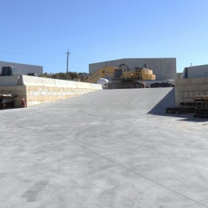 Completed Works – Vehicle Ramp to Laydown Area