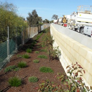 Completed Works – Limestone Retaining Wall for Heavy Vehicles and Plant